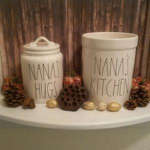 Rae Dunn bundle Nana's kitchen crock hugs canister